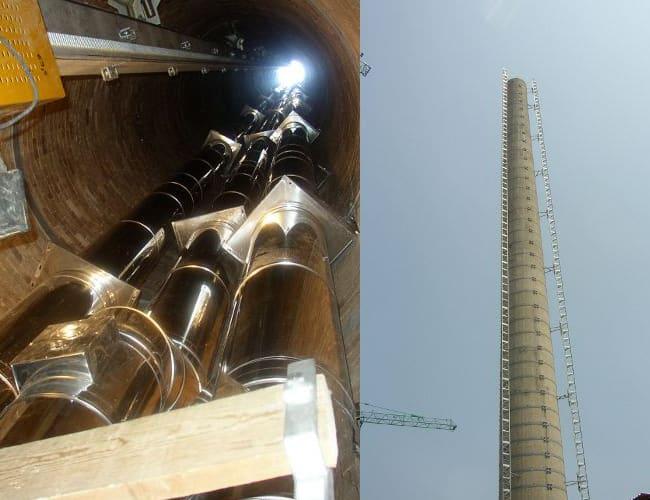 Installazione canne fumarie a San Volto, Torino