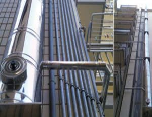 Installation of flue pipes in Rosignano, Tuscany
