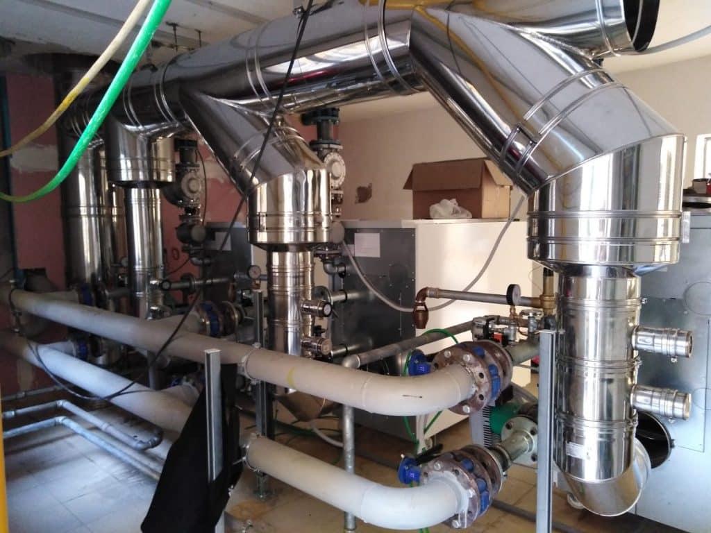 Flue pipes installation
