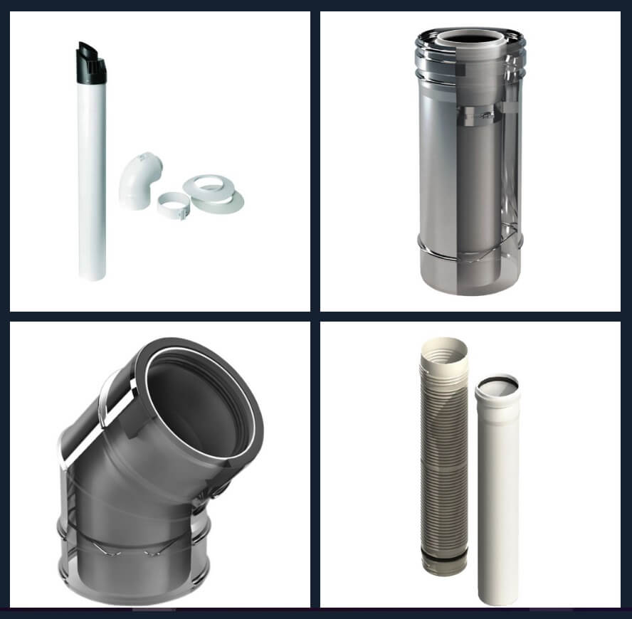 Plastic flue for your smoke system - Plastic flues - Beza srl