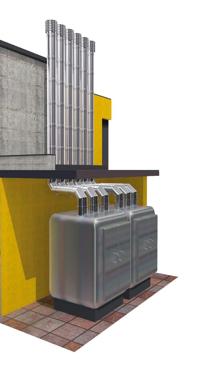 Canna fumaria Drive usata per evacuare i fumi di forni di cottura pane