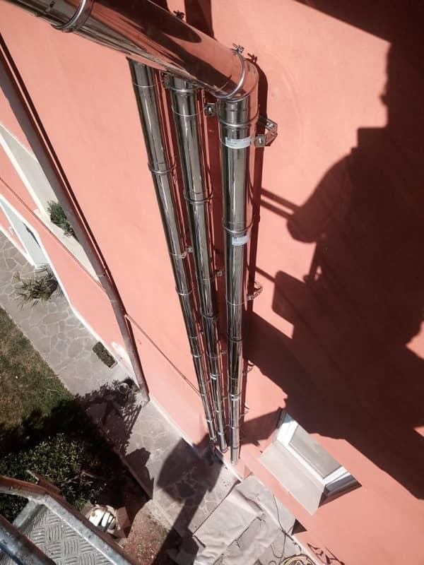 Ristorante Le 3 Regioni – Pisa - canna fumaria a parete semplice Drive