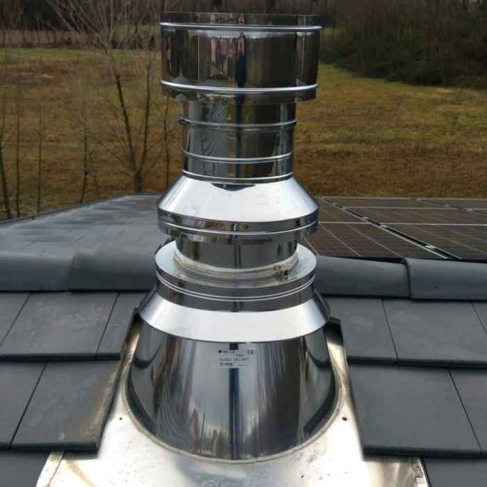 Pat Stop Fire flue pipe installation