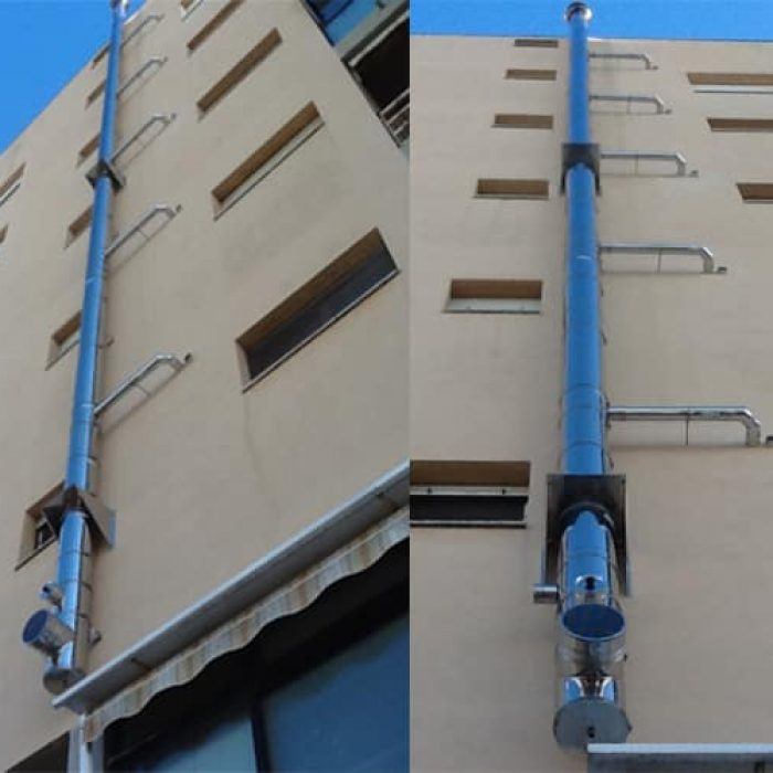 Isoair flue pipes installation in Livorno